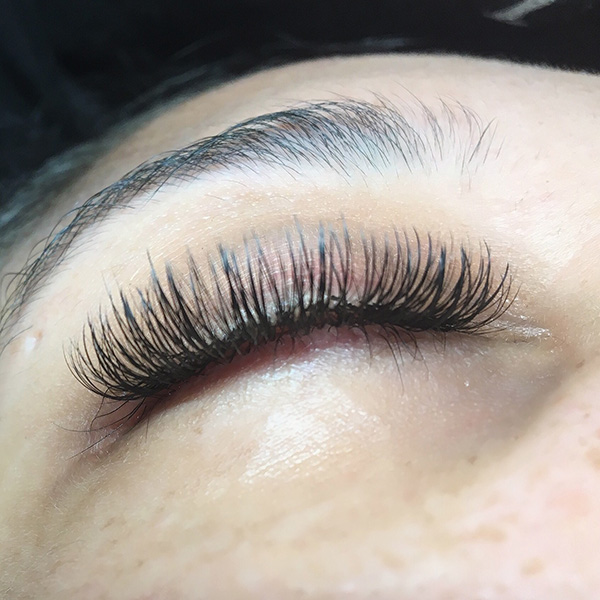 Volume lash extensions done at Queen of Hearts in Wailuku, Maui, Hawaii.