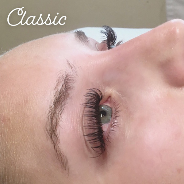 Classic lash extensions done at Queen of Hearts in Wailuku, Maui, Hawaii.